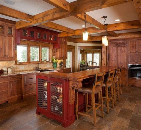 rustic kitchen islands for easy ways to achieve the rustic kitchen look decor 7844