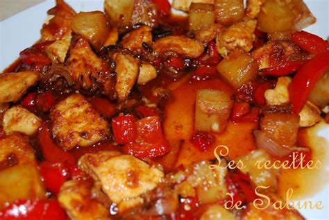 mon 1er repas chinois poulet sauce aigre douce les recettes de sabine