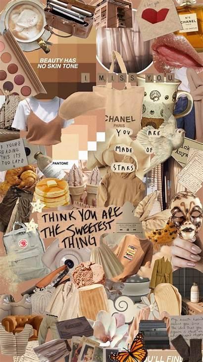 Aesthetic Beige Collage Wallpapers Backgrounds Desktop Iphone