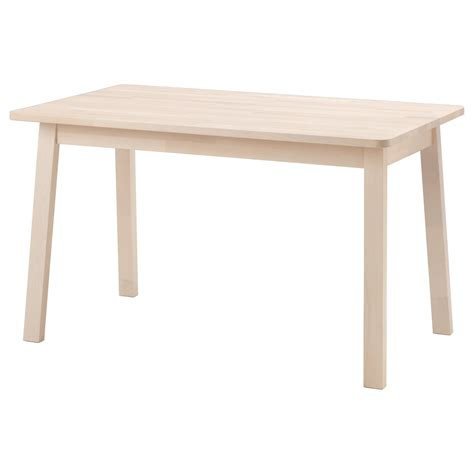 white wooden table l norråker table white birch 125x74 cm ikea