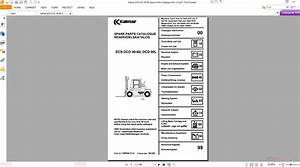 Kalmar  U206fecs Dcd 40-80 Spare Parts Catalogue Nr 114