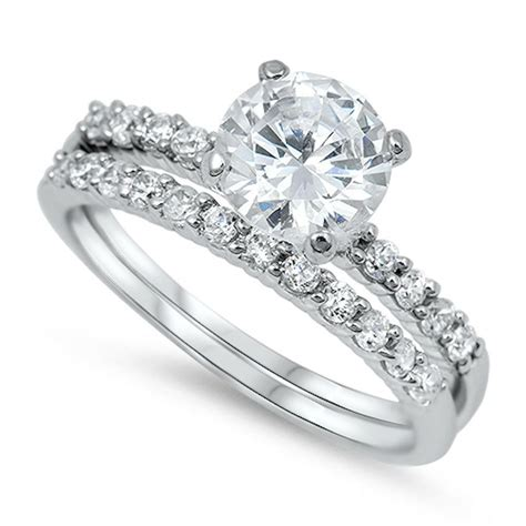 women s 2 05ctw solitaire 925 sterling silver wedding