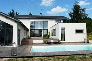 maison en u james bansac architectes With modele de maison en u