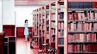 Library Books Animation Gifs Anime Children Wolf