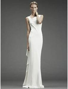 satin sleeveless sheath wedding gown with cowl back style With silk sheath wedding dress