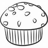 Coloring Muffins Template Muffin sketch template