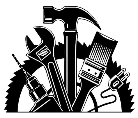 fix clipart black and white home repair logo clipart clipart suggest