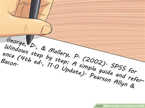 4 Ways To Cite A Textbook In Apa Wikihow
