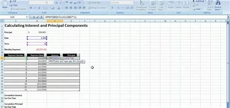 How to Calculate interest on a loan payment in MS Excel
