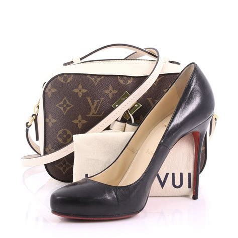 louis vuitton saintonge handbag monogram canvas  leather  stdibs