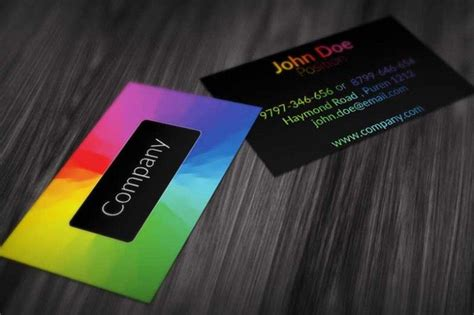 visiting card design template psd file modern colorful business card design available for free