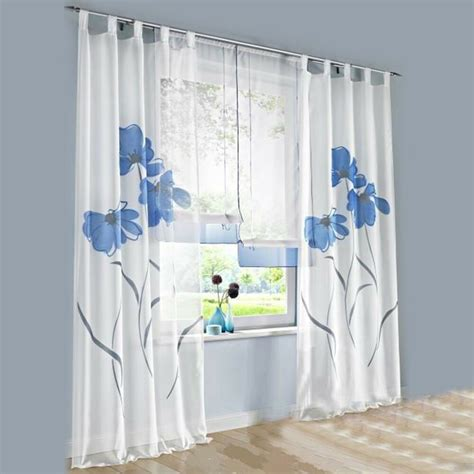 window drapes and curtains 1 pcs sheer tap top window curtain living room drapes