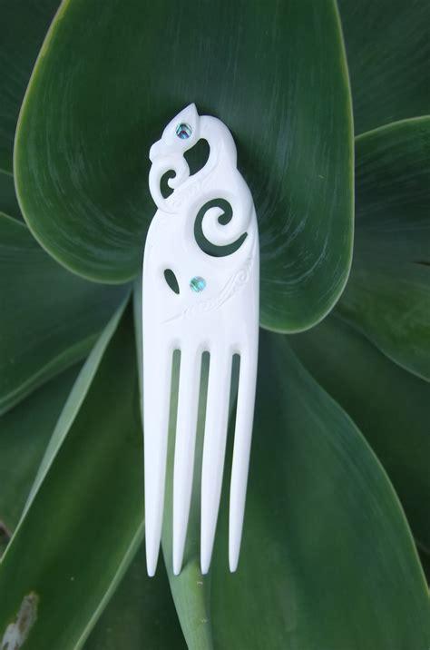maori carved manaia bone heru comb crystal visions nz