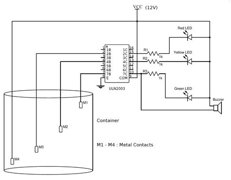 Simple Water Level Indicator With Alarm Tested Circuits