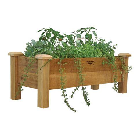 home depot planter box gronomics rustic planter box 18x48x19 9 quot d the home
