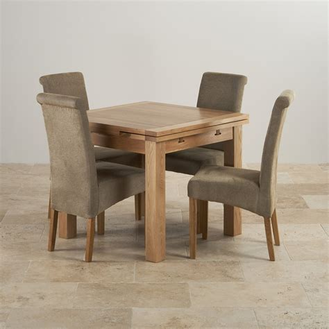 table and four chairs dorset oak 3ft dining table with 4 sage fabric chairs
