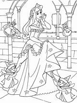Coloring Sleeping Beauty Pages Printable sketch template