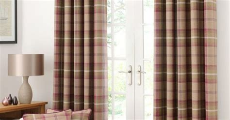 Plum Highland Check Lined Eyelet Curtain Collection Diy Curtain Rod Ideas Light Safety Distance Peace Sign Beaded Curtains Large Wooden Rings Retro Fabric Shower Ceiling Mount Rods Canopy Bed With Crystal Finial Wine And Grape Kitchen