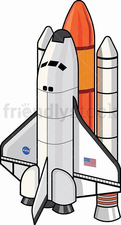 Nasa Space Shuttle Cartoon Clipart Vector Friendlystock