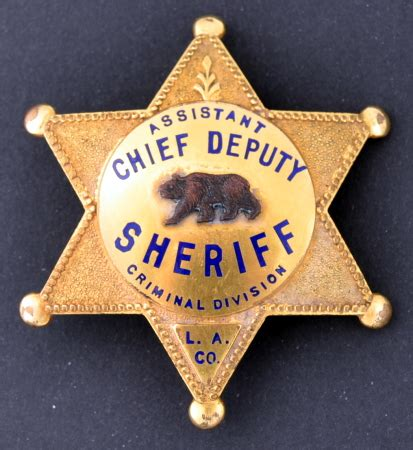 Los Angeles County Sheriff Badge