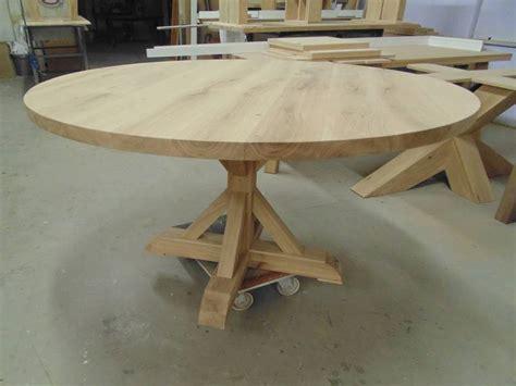bureau bo concept tafel rond landelijk eiken te boveldt meubelmakerij