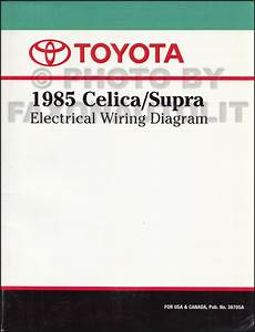 1985 Toyota Celica Supra Wiring Diagram Manual Original