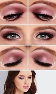 Apprendre A Se Maquiller Les Yeux : maquillage rose et noir ~ Nature-et-papiers.com Idées de Décoration