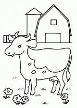 Cow Coloring Printable sketch template