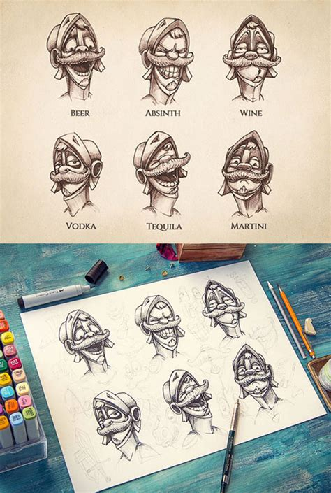 inspiring examples  character design sketching  mike