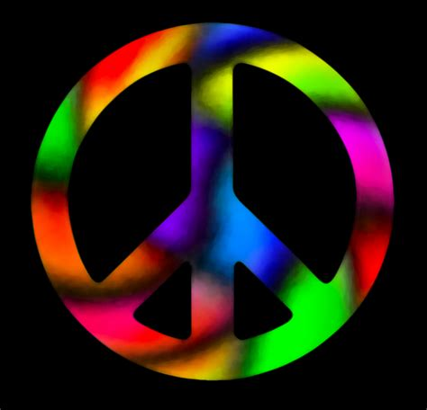 what is the color of peace cool colorful peace signs clipart best