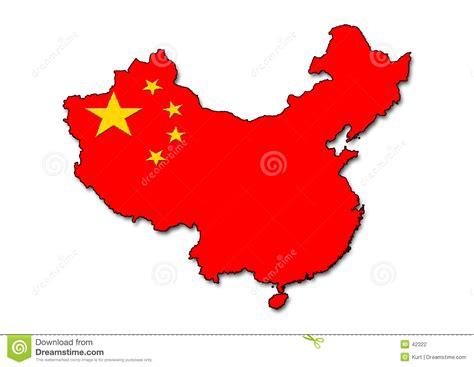 China Outline With Flag Stock Illustration Illustration