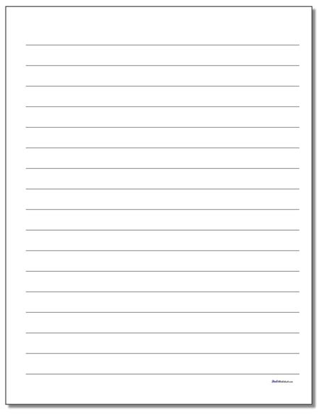 charming printable lined paper  ruled paper
