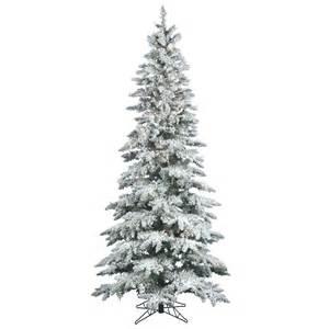 9 foot slim flocked utica fir tree all lit lights a895081