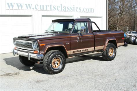 jeep eagle for sale 1978 jeep j10 golden eagle pickup for sale photos