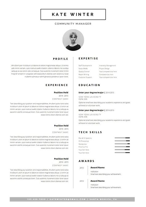 Work Resume Template Word by Minimalist Resume Template Cover Letter Icon Set For