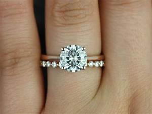 15 Photo Of White Gold Engagement Rings With Rose Gold