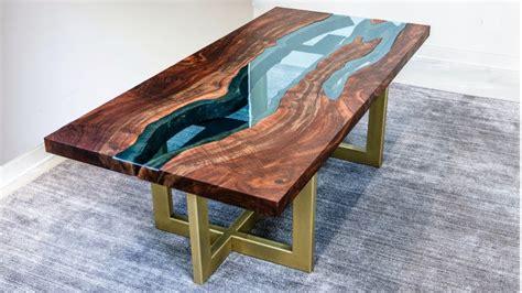 table 65 new richmond einen hölzernen tisch mit gläsernem fluss bauen das
