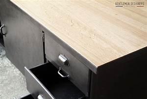 plan de travail cuisine chene cuisine en mlamin blanc With meuble ilot central cuisine 4 comptoir grand ilat central style indus metal bois