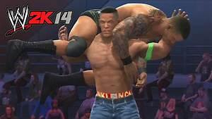 WWE 2K14 - Randy Orton vs John Cena Hell in a Cell Match ...