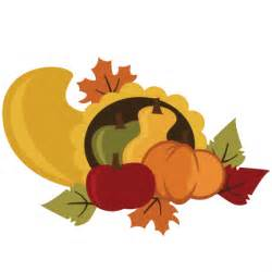 Cornucopia Cute Thanksgiving Clip Art