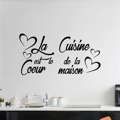 citations cuisine sticker citation la cuisine est le coeur de la maison