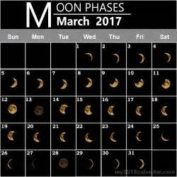 Moon Phase Calendar March 2017