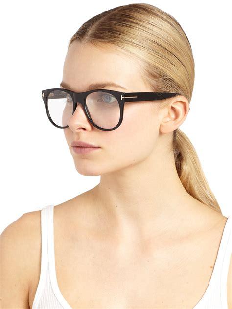 tom ford oversized optical glasses black lyst