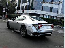 Maserati GranTurismo S wrecked, Mumbai, India