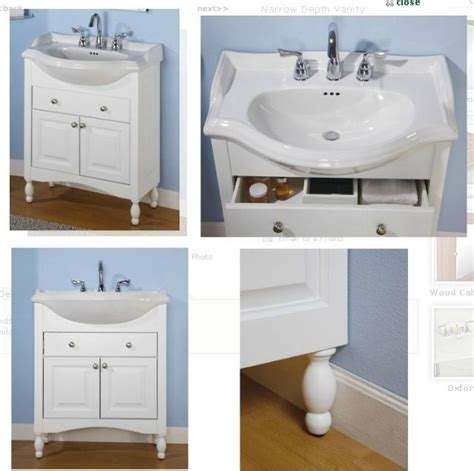 narrow bathroom vanities ideas  pinterest