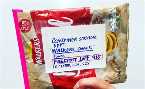 chip empty bags plastic packaging walkers mailed protest against potatopro bag chips offered