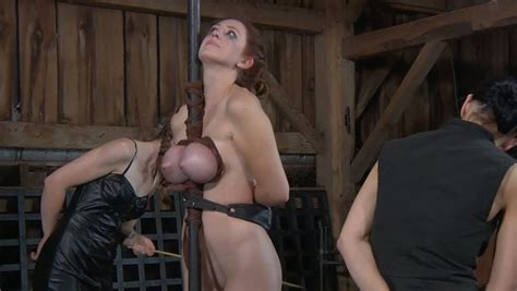 Busty Red Haired Hottie Gets Her Tits Squeezed Vigorously