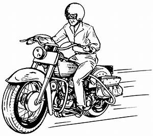 Motorcycle Clipart Black And White - 50 cliparts