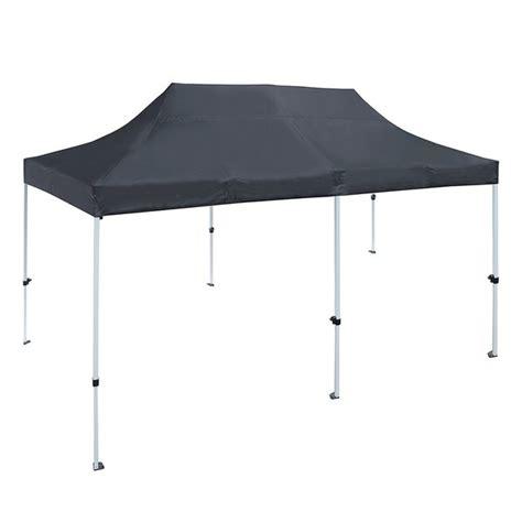shop aleko    ft outdoor party waterproof black gazebo tent canopy  sale