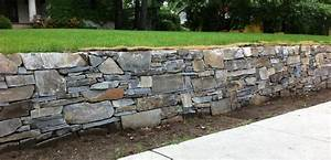 French Country Stone Retaining Wall - Rustic - Landscaping